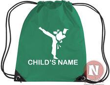 Personalised Martial arts karate judo kit bag. Drawstring - add child's name