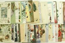 Vintage Early Lot Paper Holiday Postcards Merry Christmas Greetings Holly