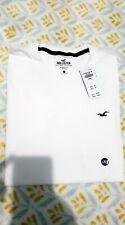 Hollister Mens New Muscle Fit Tee T-shirt Crew Neck Short Sleeve White Small S