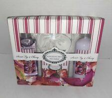 Kingston Hill Sweet Fig & Cherry Bath And Body 3 piece Gift Set NIB