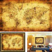 Vintage Style Retro Cloth Poster Globe Old World Nautical Map Gifts Hoc Free P&P