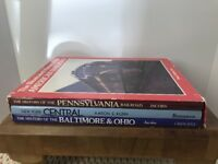 1988 Amer Railroad Illustrated History Baltimore,Oh,Penn & NYC 3 VOLUME Book SET