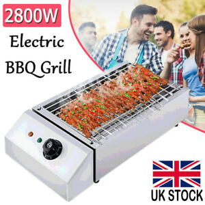 2800W Electric Table Top Grill Griddle Hot Plate BBQ Barbecue Rapid Heating UK