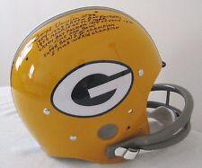 Boyd Dowler TK FS  Full Size Stat Helmet 6 Inscriptions Green Bay Packers