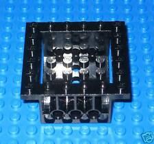 Lego Technic Part Black Brick W/ Holes 6 x 6 x 2 tm78