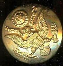 old EAGLE patriotic Uniform goldplated BUTTON 1.12 in