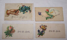 4-VICTORIAN ERA CALLING CARDS-GENEALOGY-BECK NAME