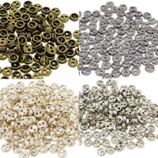 3mm Round Doll Clothes Sewing Sew On Plated Metal Miniature Buttons with Rim 60p