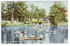 1908 Richmond, IN Postcard - Boating at Glen Miller - Posted
