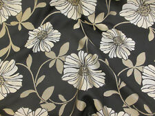 31 metres (Full Roll) Black Floral Jacquard Viscose Blend Upholstery Fabric