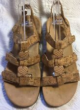 VIONIC 'Amber' Cork Sandals With Backstrap *Size 6