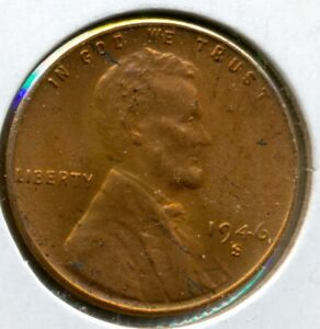 1946-S LINCOLN CENT, NICE BRILLIANT UNCIRCULATED RED, GREAT PRICE!