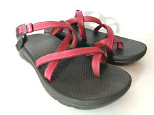 CHACO US Womens 8M Red Z2 Adjustable Strap Toe Loop Sandals Shoes Vibram Soles