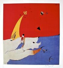 JOAN MIRO LITHOGRAPH WITH HAND SIGNED SIGNATURE AND C.O.A.