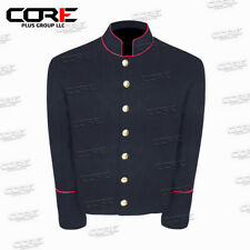 US Civil War Navy Blue Wool Shell Jacket With Red PIPING Trim All Sizes!