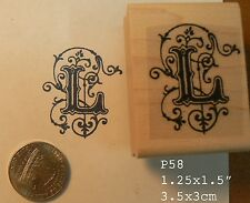 P58 Monogram L letter rubber stamp