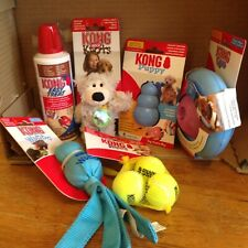 Kong  PUPPY Dog Toys Large Bundle. BLUE NEW. 6 Items
