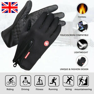 Winter Cycling Warm Windproof Waterproof Anti-slip Thermal Touch Screen Gloves