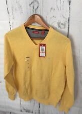 Men's Yellow V-Neck Izod Sweater Size Small New With Tags