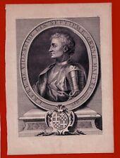 GS17-GRAVURE-PIERRE DE VIEILLE-BRIDE-GRAND MAITRE-CHEVALIERS HOSPITALIERS-1726
