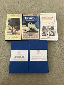Massage and Reflexology VHS lot of 5