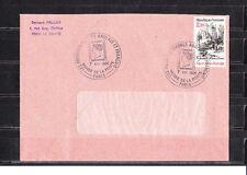 FRa/ enveloppe  1ers timbres Anglais et Francais  musée de la poste Paris 1986