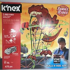 Knex Thrill Rides T-Rex Fury Roller Coaster Motor Track Cars Toy Building Set