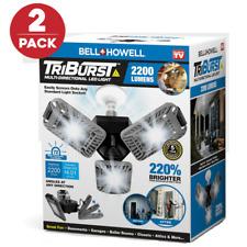 Bell + Howell Tri Burst Multi Directional Led Light w 3 Adjustable Heads 2-pack