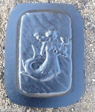 "Gostatue mermaid rain brick concrete plaster mold 1/8th"" plastic"