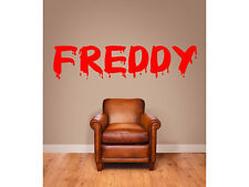 """Halloween Bloody Name Wall Decal Monogram Boys and Girls Room Vinyl Wall 8"""" Tall"""
