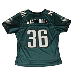 Kids BRIAN WESTBROOK #36 Philadelphia Eagles Green Reebok YOUTH Jersey - XL
