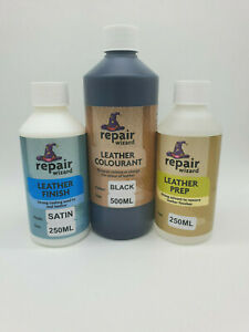500ml All In One Leather & Vinyl Recolour Restore Set/Kit Includes Prep & Finish