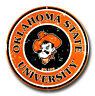 "OKLAHOMA STATE COWBOYS 12"" ROUND METAL SIGN OSU UNIVERSITY MAN CAVE GAME ROOM"
