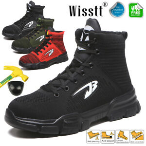 Men's Safety Light Work Shoes Steel Toe Boots Indestructible Sports Sneakers 9.5