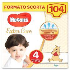 104 Pannolini Huggies Bebè Extra Care Taglia 4 (7-14 Kg) Winnie the Pooh Disney