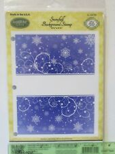 JustRite Stamp SNOWFALL Cling Background Stamp NEW Holiday Winter snowflake