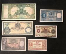 Lithuania set 6 rare banknotes reproduction copy