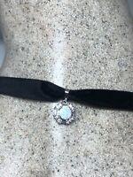 Vintage Opal Choker Necklace 925 Sterling Silver