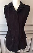 Cotton On Women's Vest Sz XS Black Utility  Zip Snap Closure Pockets