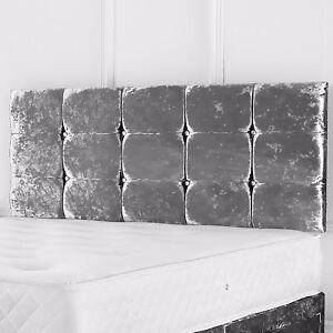 Verona Headboard Designer Bed Head in CRUSHED VELVET
