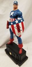 SIGNED & SKETCHED By STAN LEE & R. BOWEN CAPTAIN AMERICA MUSIC 60th STATUE Bust