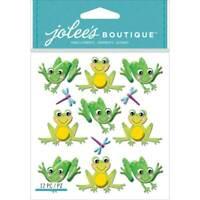 Jolee's Boutique Dimensional Stickers-Cutesy Frogs, E5021832