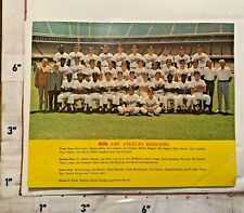 1974 Los Angeles Dodgers Color Team Photo w Autograph Facsimiles Shows Wear