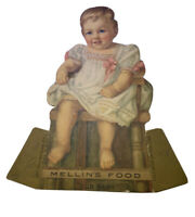 1880s Mellin's Food Die Cut Counter Top Display Ad Country Store Rip In Head
