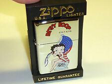 "VINTAGE ZIPPO LIGHTER W. LACQUER MOTIVE - ""BETTY BOOP"" - NEVER STRUCK -1997-NICE"