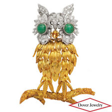 Owl Pin Brooch 26.9 Grams Nr New listing