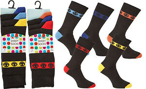 12 Pairs Mens Smiley, Comfortable, Everyday, Breathable Calf Socks