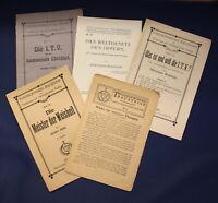 6 Hefte/ Bücher Theosophie 1920-1925 Religion Glaube Christentum Gott js