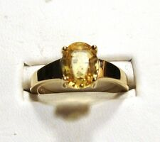New YELLOW SAPPHIRE Gold Ring 1.82cts 14k YG Size 7