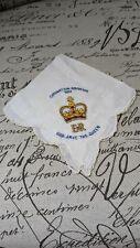 Queen Elizabeth II Coronation Souvenir Coronation Handkerchief 1953 Embridored